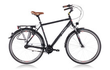 Ortler deGoya Cityfiets Heren Men, black matte zwart